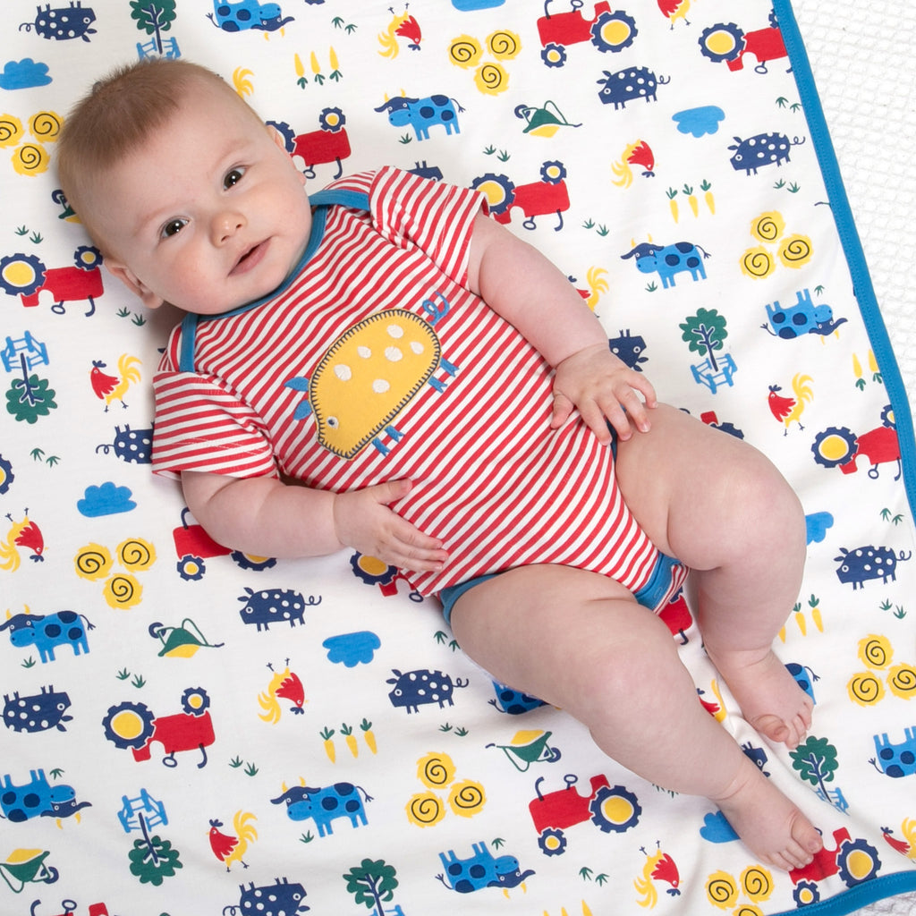Kite Stripy Farm Life Bodysuit