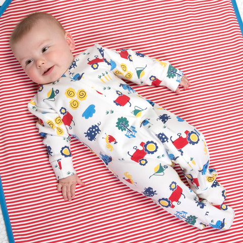Image of Kite Farm Life Sleepsuit - Tilly & Jasper