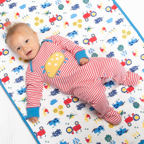 Kite Stripy Farm Life Sleepsuit