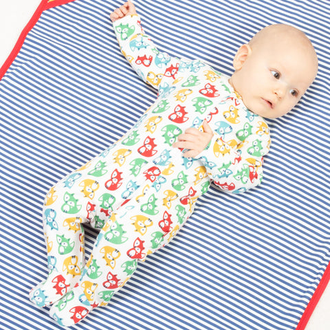 Image of Kite Rainbow Fox Sleepsuit