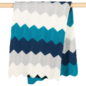 Kite Chevron Knit Blanket