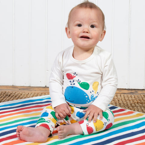 Image of Kite Rainbow Whale Leggings