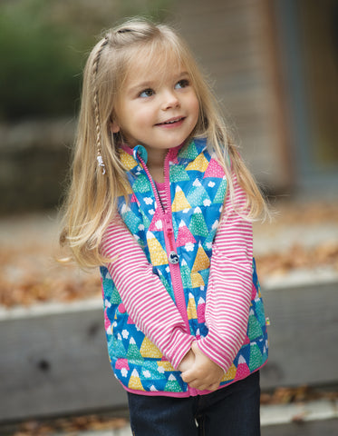 Image of Frugi Explorer Gilet - Happy Hikers - Tilly & Jasper