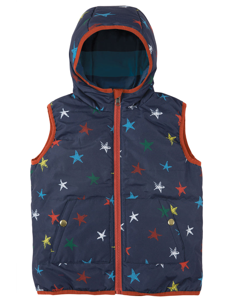 Frugi Explorer Gilet - Northern Stars - Tilly & Jasper