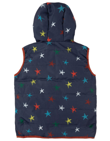 Image of Frugi Explorer Gilet - Northern Stars - Tilly & Jasper