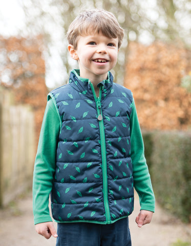 Image of Frugi Explorer Gilet - Giant Dino Field - Tilly & Jasper