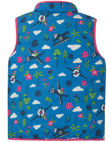 Frugi Explorer Gilet -  Sail Blue Fly High - Tilly & Jasper