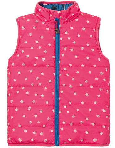 Frugi Explorer Gilet -  Sail Blue Fly High