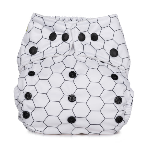 Baba & Boo One Size Nappy - Honeycomb