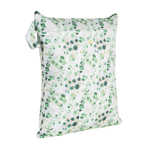 Baba & Boo Eucalyptus Double Zip Reusable Nappy Storage Bag (Medium)