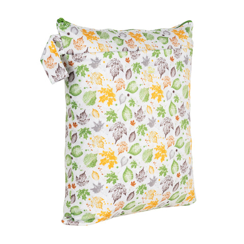 Baba & Boo Leaves Double Zip Reusable Nappy Storage Bag (Medium)