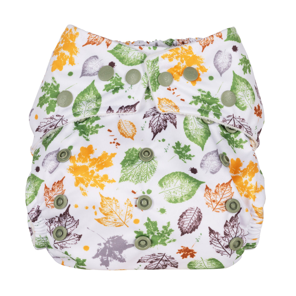 Baba & Boo One Size Nappy - Leaves