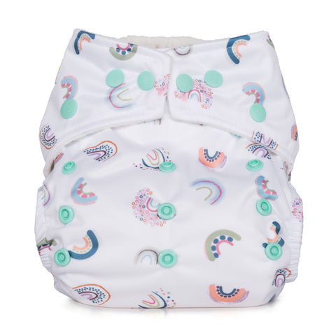 Baba & Boo One Size Nappy - Rainbows