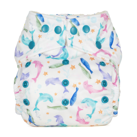 Baba & Boo One Size Nappy - Sea Life