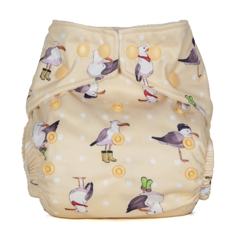 Baba & Boo One Size Nappy - Seagulls