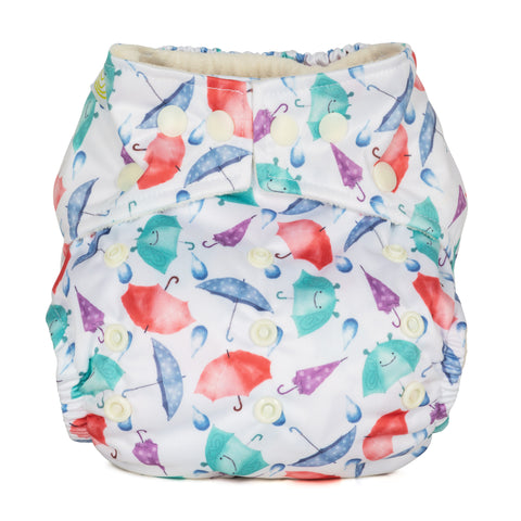 Baba & Boo One Size Nappy - Umbrella