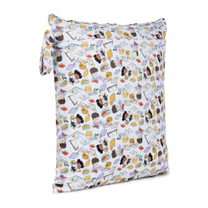 Baba & Boo Bookworm Double Zip Reusable Nappy Storage Bag (Medium)