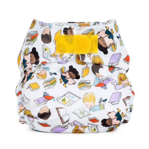 Image of Baba & Boo Newborn Nappy - Bookworm