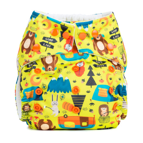 Baba & Boo One Size Nappy - Camping - Tilly & Jasper