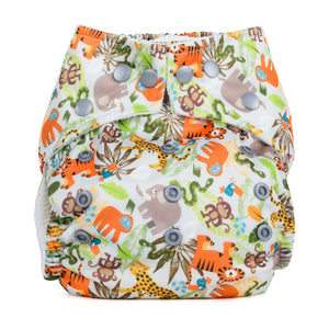 Baba & Boo One Size Nappy - Jungle Friends - Tilly & Jasper