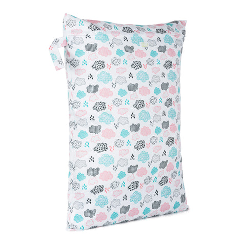 Baba & Boo Rainy Days Reusable Nappy Storage Bag (Large) - Tilly & Jasper