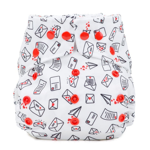 Baba & Boo One Size Nappy - Love Letters