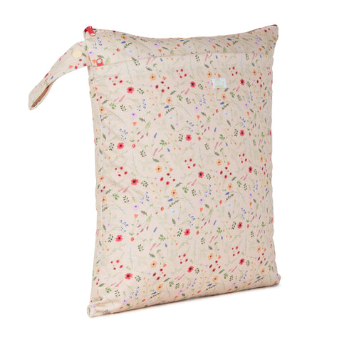 Baba & Boo Wildflowers Double Zip Reusable Nappy Storage Bag (Medium) - Tilly & Jasper