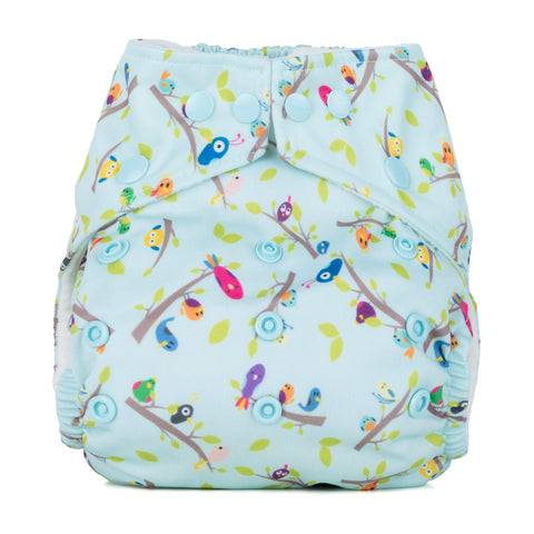 Baba & Boo One Size Nappy - Dawn Chorus - Tilly & Jasper