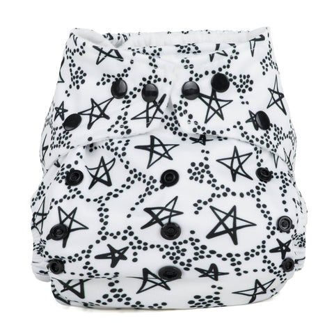 Baba & Boo One Size Nappy - Lucky Stars - Tilly & Jasper
