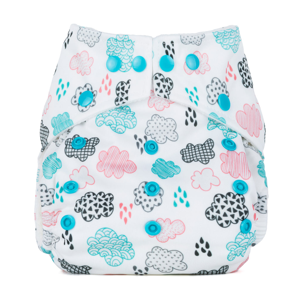 Baba & Boo One Size Nappy - Rainy Days - Tilly & Jasper