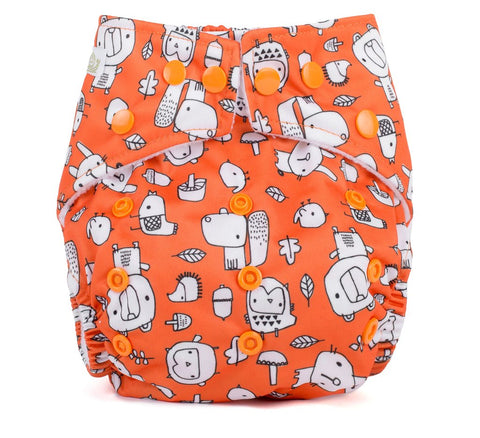 Baba & Boo One Size Nappy - Forest Foragers