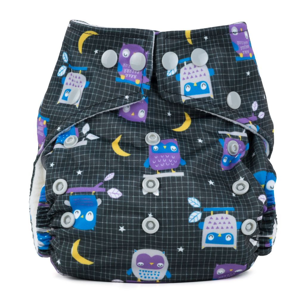 Baba & Boo One Size Nappy - Night Owls