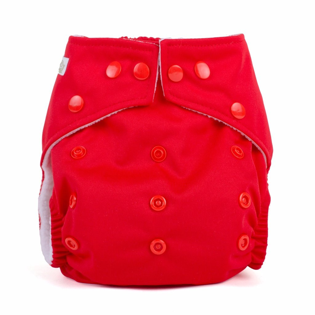 Baba & Boo One Size Nappy - Red