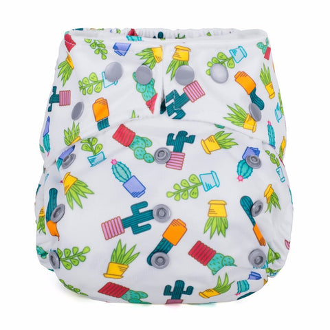 Baba & Boo One Size Nappy - Succulents