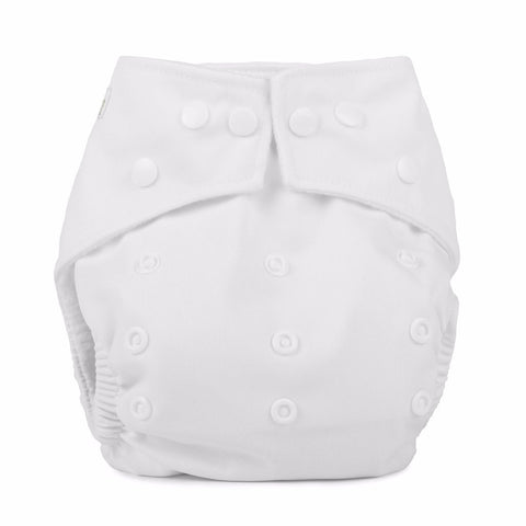 Baba & Boo One Size Nappy -White
