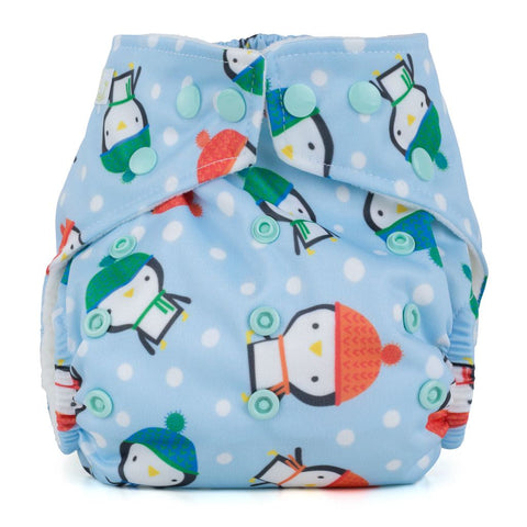 Baba & Boo One Size Nappy - Penguins - Tilly & Jasper