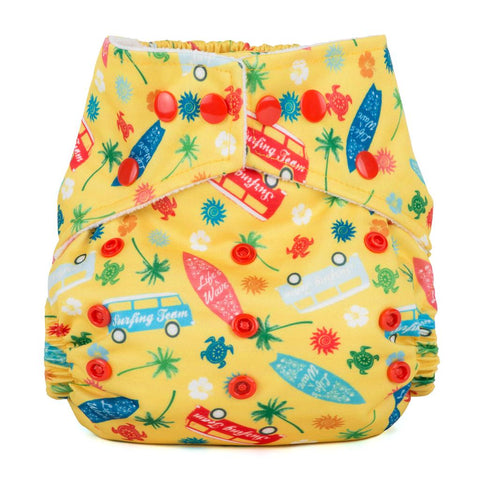 Baba & Boo One Size Nappy - Surf's Up? - Tilly & Jasper