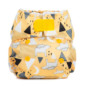 Baba & Boo Newborn Nappy - Polar Bears - Yellow - Tilly & Jasper