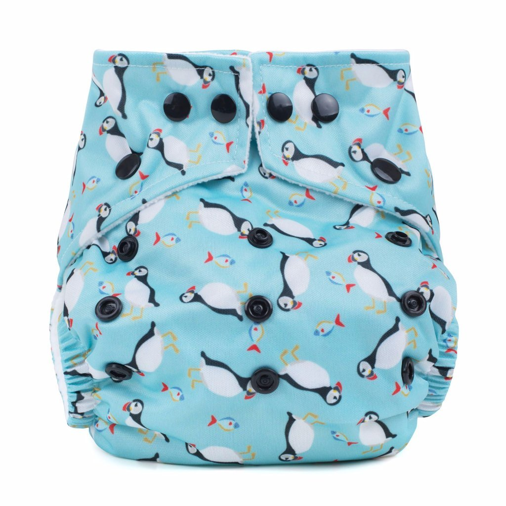 Baba & Boo One Size Nappy - Puffins