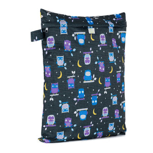 Baba & Boo Night Owls Reusable Nappy Storage Bag (Medium) - Tilly & Jasper