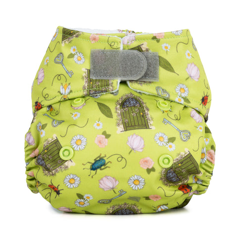 Baba & Boo Newborn Nappy - Secret Garden