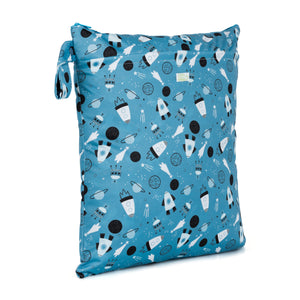 Baba & Boo Shoot For The Moon Double Zip Reusable Nappy Storage Bag (Medium)