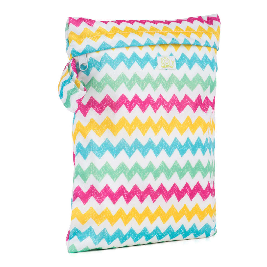 Baba & Boo Chevrons Reusable Nappy Storage Bag (Small) - Tilly & Jasper