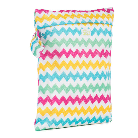 Baba & Boo Chevrons Reusable Nappy Storage Bag (Small)