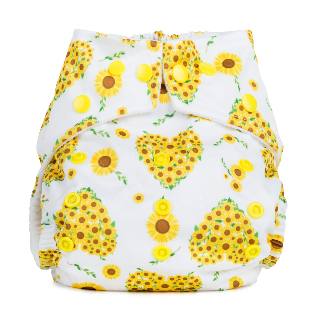 Baba & Boo One Size Nappy - Sunflowers - Tilly & Jasper