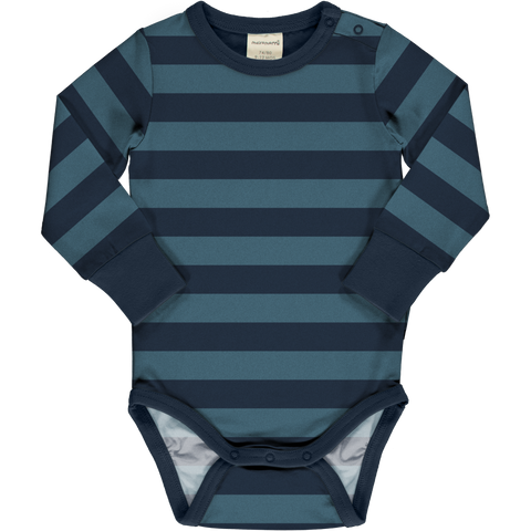 Maxomorra Long Sleeve Body - Stripe Midnight