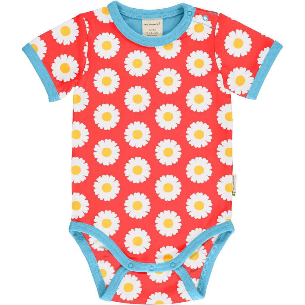 Maxomorra Short Sleeve Body - Daisy