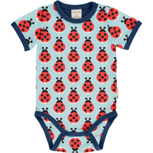 Maxomorra Short Sleeve Body - Lazy Ladybug