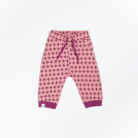 Image of Alba Lucca Baby Pants - Branded Apricot Hearts - Tilly & Jasper