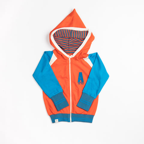 Alba Robin Zipper Hood - Spicy Orange